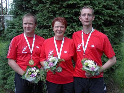 Die Delitzscher EM-Starter (Dirk und Heike Preuß, Daniel Sonnekalb - von links)